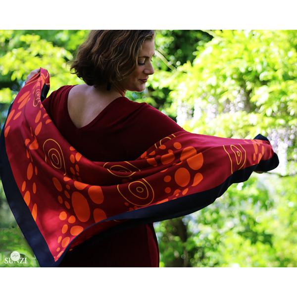 Sunzi Star Dreaming Red Shawl