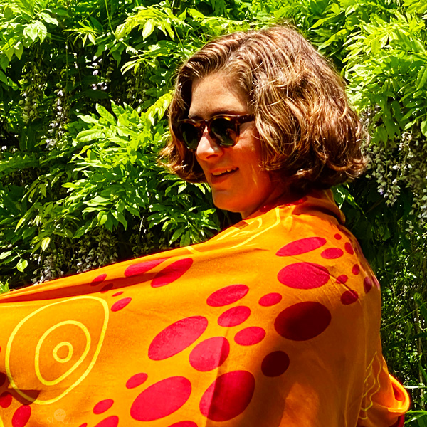 Sunzi Star Dreaming Orange Wrap